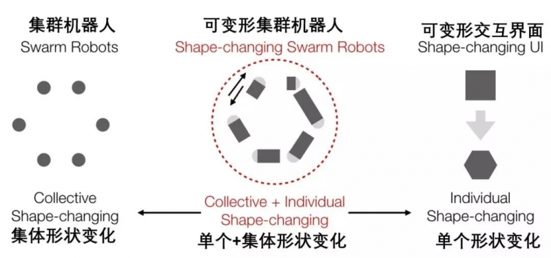 可变形集群机器人的概念