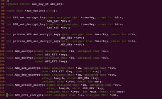 嵌入式AES加密算法的使用