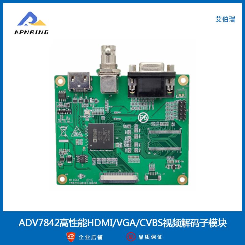 ADV7842高性能HDMI/VGA/CVBS视频解码子模块